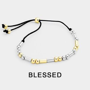 "Jewelry - Morse Code ""Blessed"" Inspirational Bracelet"